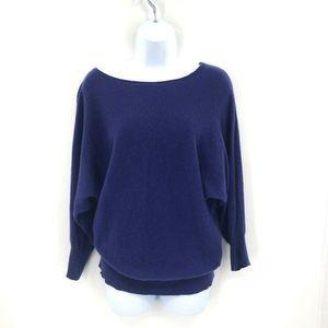Garnet Hill Pullover Sweater Cashmere Dolman S